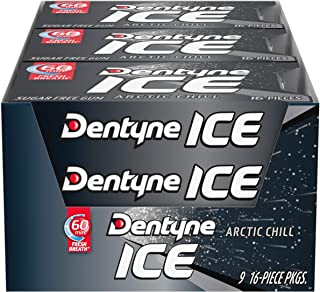 Dentyne Ice Sugar Free Gum (Arctic Chill  16 Piece  Pack of 9)