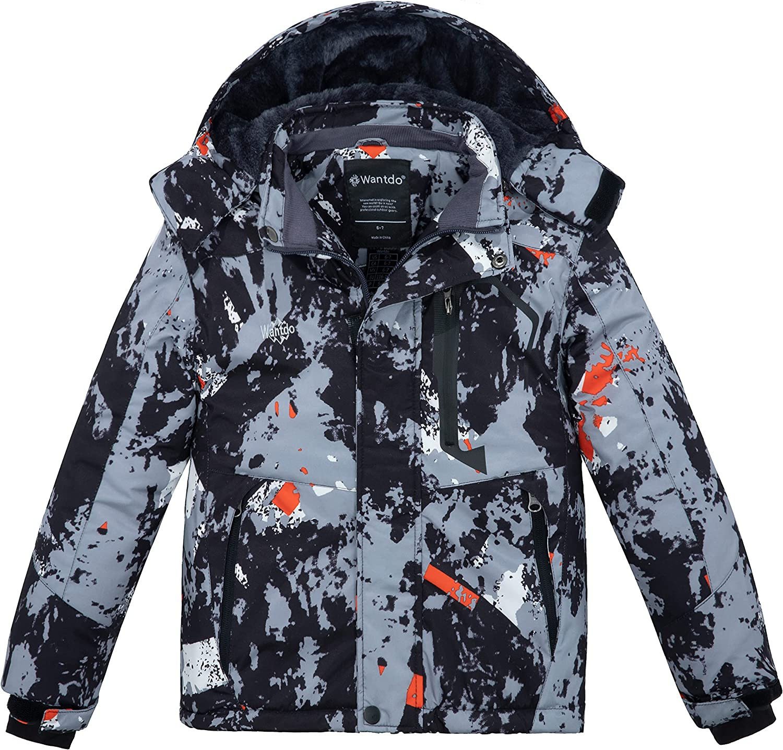 Wantdo Cash special Choice price Boy's Waterproof Ski Jacket Jackets Snowboarding W Fleece