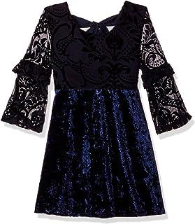 فستان ماي ميشيل مخملي كبير للفتيات
