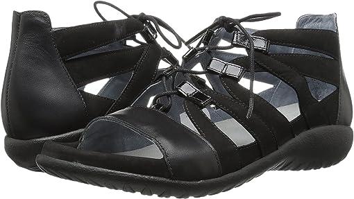 Black Velvet Nubuck/Black Raven Leather/Black Luster Leather