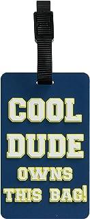 TangoTag 'Cool Dude Owns This Bag!' Luggage Tag, Blue, HTC-TT825