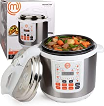 MasterChef 13-in-1 Pressure Cooker- 6 QT Electric Digital MultiPot w 13 Programmable Functions- High and Low Pressure Cook...