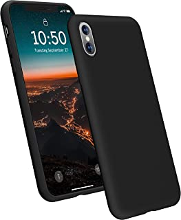 YOHUTO Ultra Slim Fit Silicone iPhone X Case/iPhone Xs Case, Soft Liquid Silicone Gel Rubber with Full Body Cover Shockproof Anti-Scratch Protective Case, Compatible with iPhone X/Xs 5.8