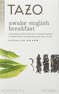 Tazo Awake English Breakfast Black Tea -- 20 Tea Bags (Pack of 3)