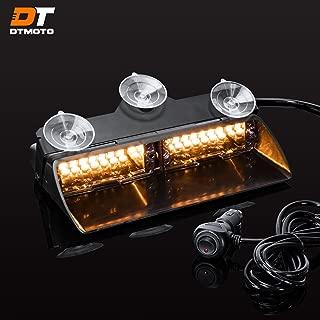 "9"" 16-Watt LED Emergency Dash Light for Vehicles w/19 Modes and IP65 Waterproof Rating - Amber Interior Flashing Warning Strobe Lights"
