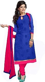 Florence Women's Chanderi Cotton Semi stitched Sawar Suit