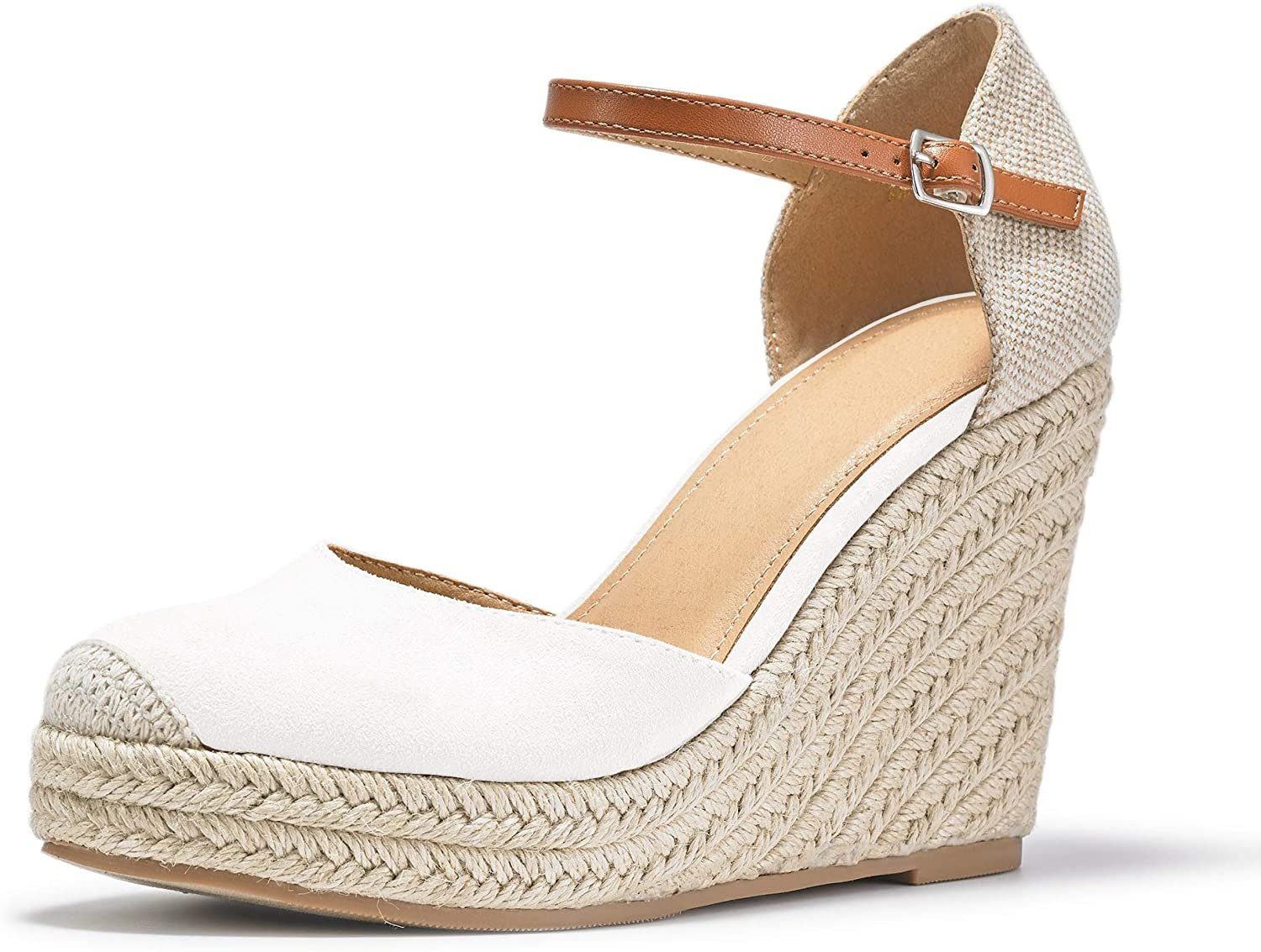 FISACE Womens Summer Espadrille Heel Platform Sandals Wedge Ankl Free shipping / New Super popular specialty store