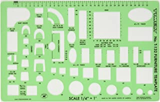 Timely 132T Furniture Template, 1/4