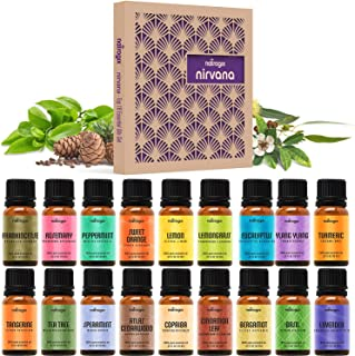 Natrogix Nirvana Essential Oils 18 Pack 10ml Therapeutic Grade 100% Pure Natural Aromatherapy Essential Oil Set Essential ...