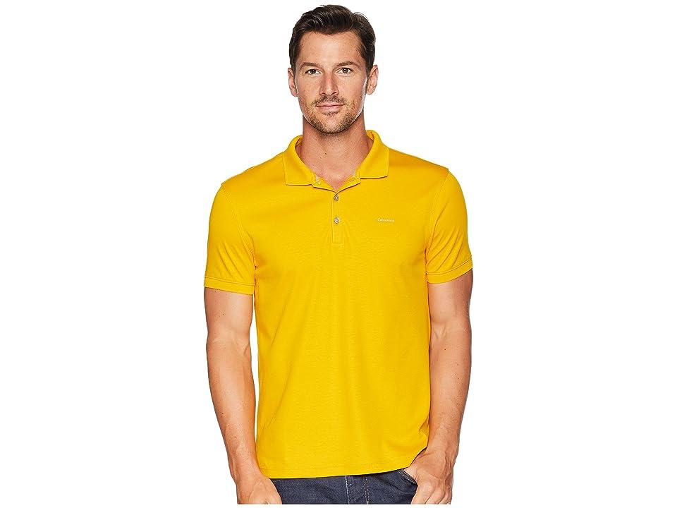 Calvin Klein Liquid Touch Polo Shirt (Golden Sun) Men