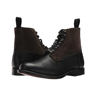 Frye Garrison Boot (Black Multi Waxed Pebbled Leather/Oiled Suede) Men