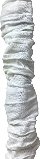 Royal Designs CC-16-LW White Cord & Chain Cover 4' Linen Fabric Touch Fastener, Linen White