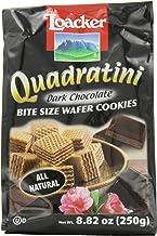 Loacker Quadratini, Bite Size Wafer Cookies, Dark Chocolate, 8.82-Ounce (Pack of 3)