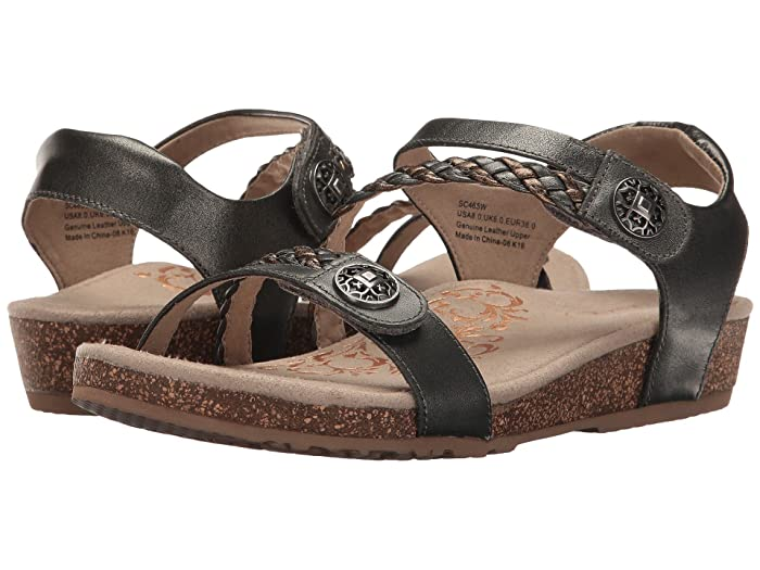 Aetrex  Jillian Quarter Strap (Gunmetal) Womens Sandals