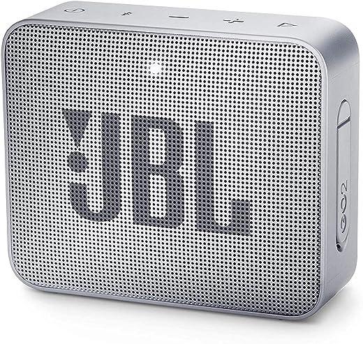 JBL GO 2 by Harman Portable Waterproof Bluetooth Speaker with mic (Grey)
