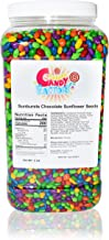 Sunburst Candy Coated Chocolate Sunflower Seeds in Jar, 6 Lbs