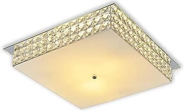 Startec 148220005, Plafon London Quadrado 40 cm, com Espelho, Espelho/Cristal