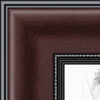 ArtToFrames 11x17 inch Mahogany and Burgundy With Beaded Lip Picture Frame, WOMN9590-11x17