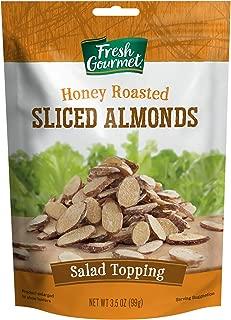 Fresh Gourmet Sliced Almonds, Honey Roasted, 3.5 Oz