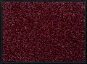 Panorama24 Premium deurmat / schoonloopmat voor entrees 90x120, kleur: rood - vuilvangmat in 6 maten als deurmat binnen en...