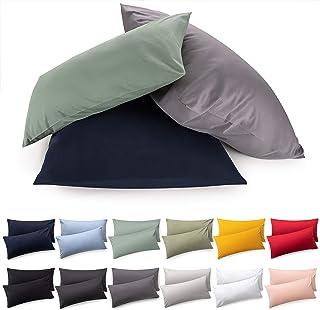 Blumtal Lot De 2 Taies d'oreiller 100% Coton Jersey Super Doux, Vert, 40 x 60 cm