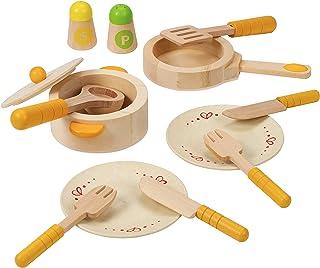 مجموعة ألعاب خشبية من ملحقات المطبخ للمبتدئين واللعب من هيب جورميت
