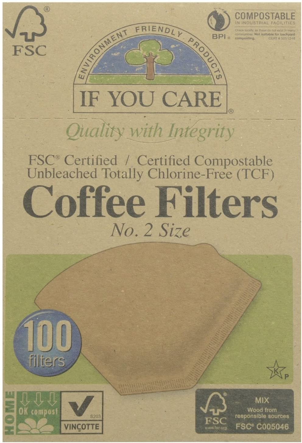 Iyc Coffee Filter- #2 Sale Limited price sale price Fsc Size 100ct