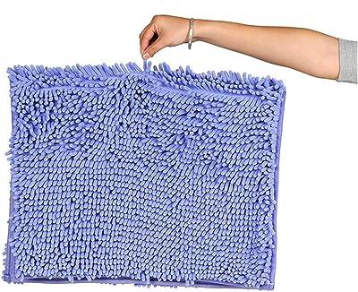 Alfombrillas de baño de chenilla suave, alfombra de estera antideslizante de todo tamaño para la cocina de la sala de estar de la sala de estar de la sala de estar, alfombra de la aleña de la alfombra
