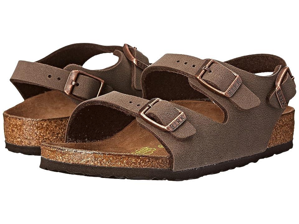 Birkenstock Kids Roma (Toddler/Little Kid/Big Kid) (Mocha Birkibuc) Girls Shoes