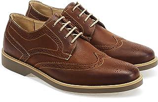 Anatomic & Co Tucano Mens Rust/Brown Cuero Trabajo Derby Brogue Zapatos Talla 6-15