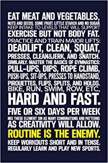 fitness in 100 words poster
