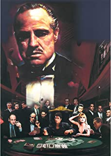 The Godfather 3D Poster Wall Art Decor Print | 11.8 x 15.7 | Lenticular Posters & Pictures | Memorabilia Gifts for Guys & Girls Bedroom | Mob Bosses Sopranos Scarface Goodfellas & Al Pacino Movie