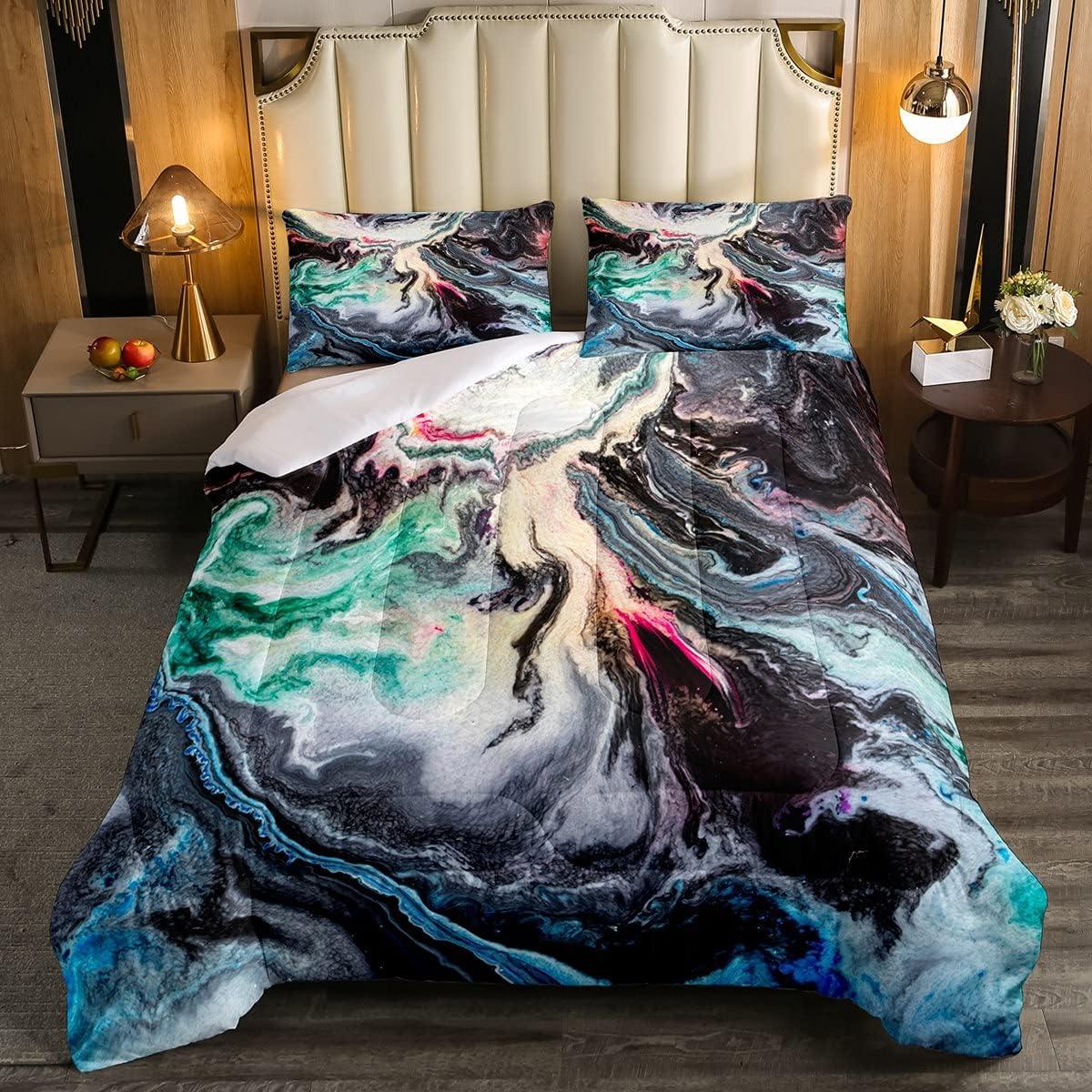 Erosebridal Black It is New popularity very popular Marble Bedding Psychedelic Comforte Set