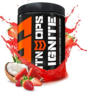 Sponsored Ad - MTN OPS Ignite Supercharged Energy Drink Mix 45-Serving Tub, Tiger's Blood