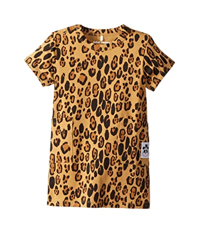 mini rodini Basic Leopard Dress (Infant/Toddler/Little Kids/Big Kids) (Beige) Girl