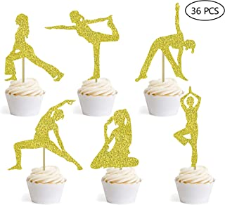 Best yoga cupcake toppers Reviews