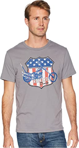 Rock and Roll Cowboy Short Sleeve T-Shirt Solid with Graphic P9-6353