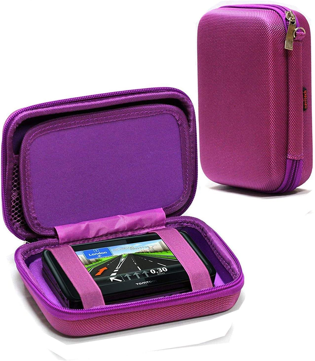 Navitech Purple Hard Carry Case Compatible Via Special price for a limited time Tomtom The wholesale with 5