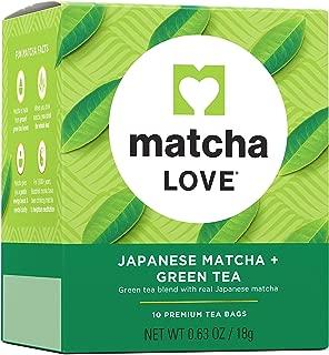 Matcha Love Tea Bags 10 Count (Pack of 10) Zero Calories No Artificial Sweeteners Caffeinated Good Source of Vitamin C and Antioxidants BPA Free