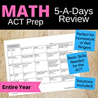 5-A-Days Basic Math Skills Review Bell Ringers: Full Year for Math ACT Prep