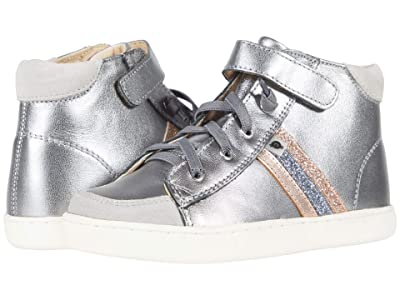 Old Soles Glambo High-Top (Toddler/Little Kid) (Rich Silver/Copper/Glam Gunmetal/Glam Copper) Boy