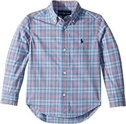 Plaid Cotton Poplin Shirt (Toddler)