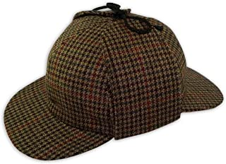 Mens Wool Tweed Deerstalker Hat