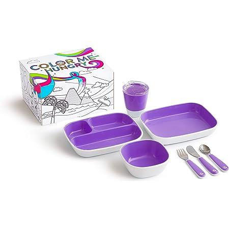 Munchkin - Set de Vajilla para Niños, Morado