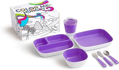 Munchkin Coffret Repas Enfant - Colour Me Hungry, Violet