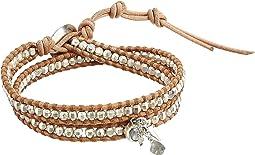 Beige Charm Double Wrap Bracelet