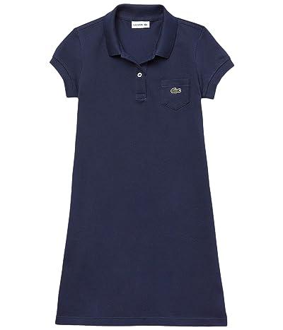Lacoste Kids Classic Pique Dress with Pocket (Toddler/Little Kids/Big Kids)