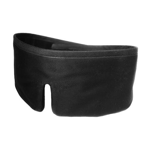 FEDANO Schlafmaske DreamKeeper - Hochwertig in elegantem Schwarz mit ökotex-zertifizierter Bio-Baumwolle - Durch innovatives Design geeignet für Männer und Frauen (Schwarz)