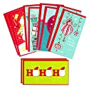 Hallmark Christmas Money or Gift Card Holder Assortment, Blue and Red (10 Cards with Envelopes)