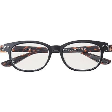 メイガン おしゃれ 老眼鏡 ブルーライトカット ブラック デミ 度数+1.50 (colorfulook 軽量 形状記憶 フレーム) 5561-15